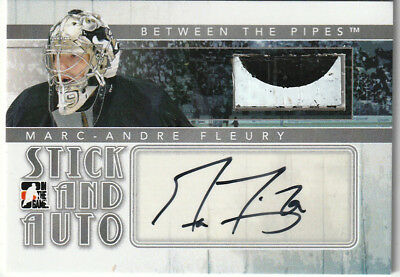 2010/11 ITG Between The Pipes Stick & Jersey Hockey Card - Marc-Andre Fleury