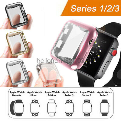 iWatch 38mm 42mm Screen Protector Case Snap On Cover for Apple Watch Series 3 2