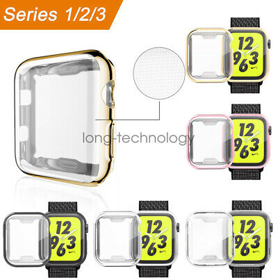 Full Body TPU Protective Screen Cover Case For Apple Watch Series 3 2 42mm 38mm