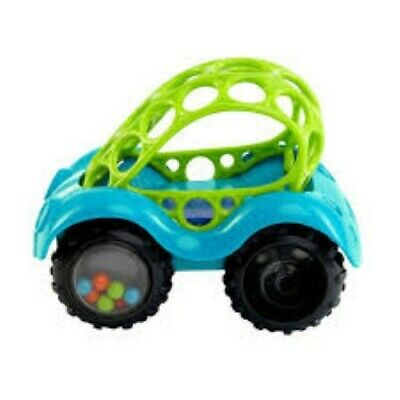 NEW Oball Baby Shaker Rattle & Roll Car - BLUE - Suitable from 3 mths +