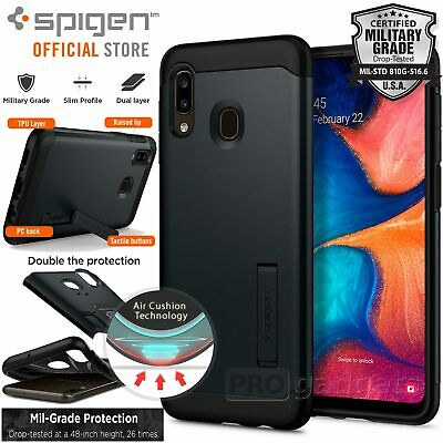 Galaxy A20 Case, Genuine SPIGEN Slim Armor Heavy Duty Hard Cover for Samsung
