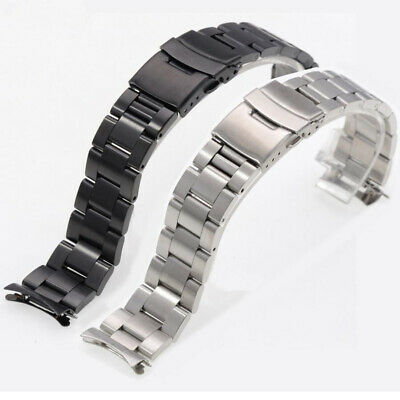 Curved Stainless Steel Bracelet Replacement Watch Band for SK 7S26 SKX007 009