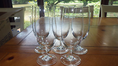 Crystal Ice Tea glasses Water Goblets twisted stem tall elegant glasses 5 15oz