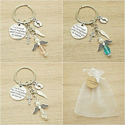 Baby Loss. I Will Hold You In My Heart/ Heaven. Angel Keyring. Memorial.gift Bag