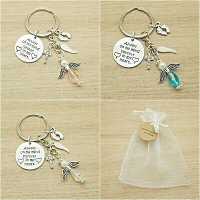 Baby Loss. Always On My Mind Forever In My Heart. Angel Keyring. Gift Bag