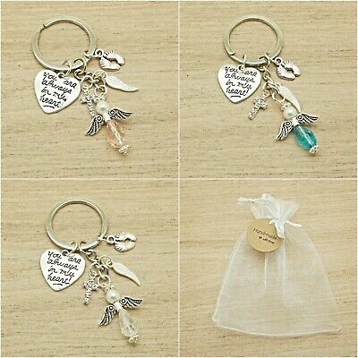 Baby Loss. You Are Always In My Heart. Angel Keyring. Memorial.gift Bag