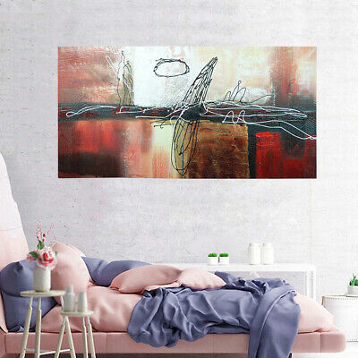 Abstract Hand Painted Oil Painting On Canvas Art Decor Framed Water Reflection