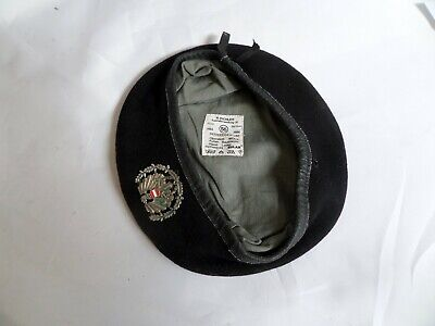 Austrian Army Black R.pichler  Beret Size 56 With Metal Badge