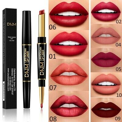 DNM Waterproof Super Stay 24 Hour 12 Color / 2 in 1 Lipstick Matte Lip Liner