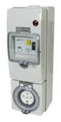 Clipsal 56-SERIES RCD PROTECTED SWITCHED SOCKET 500V 5-Pin Round GREY-10A Or 20A