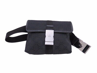 91a16881e166 GUCCI GG Canvas Waist Pouch Bumbag Belt Fanny Pack Cross Body Bag Used Ex++