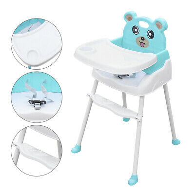 Baby Child Highchair Feeding Seat Chair Infant High Chair Food Tray Safety Belt