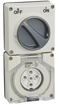 Clipsal 56-SERIES SWITCHED SOCKET 500V 5-Pin Less Enclosure GREY-10A, 20A Or 32A