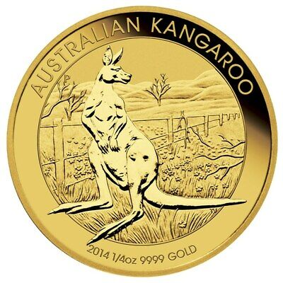 2014 Australian Kangaroo 1/4oz .9999 Gold Bullion Coin - The Perth Mint