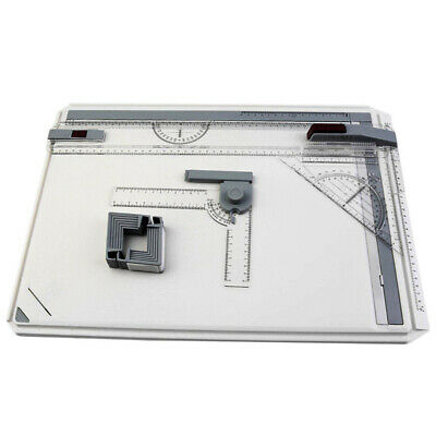 Adjustable Angle Drafting A3 Drawing Board Table Tool With Parallel Motion AU