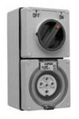 Clipsal 56-SERIES SWITCHED SOCKET 500V 5-Pin Round CHEMICAL GREY- 10A Or 20A