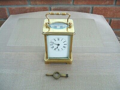 """French """"H .Riondet"""" Brass Carriage Clock"""