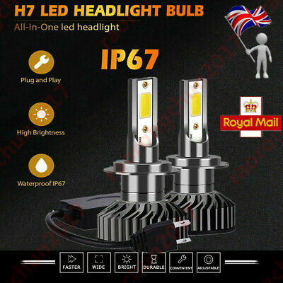F2 H7 Bmw E60 2004-10 Canbus Error Free White Led Kit Accurate Beam Pattern Uk