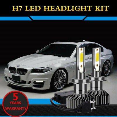 F2 H7 Canbus Error Free White Led Kit 6500K Accurate Beam Pattern For Bmw F10