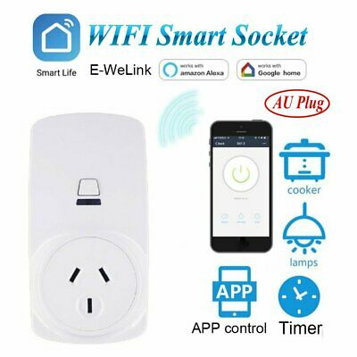 10A Wireless WIFI Smart AU Plug Power Socket Outlet Switch For ECHO Alexa Google