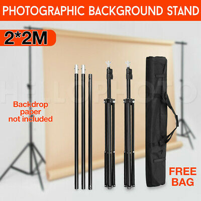 Photo Studio Adjustable 2x2m Background Stand Backdrop Support Tripod Stand Kit