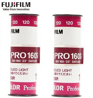 2 x Fujifilm FUJICOLOR Fuji PRO 160 160NS Daylight Color Negative 120 Film  -US