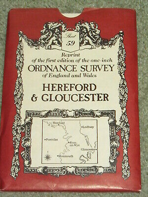 "Reproduction OS First edition 1"" map of Hereford & Gloucester - Sheet 59"