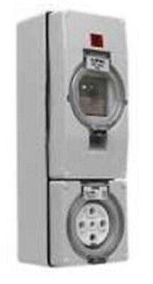 Clipsal 56-SERIES RCD PROTECTED SWITCHED SOCKET 500V 32A 5-Pins Round 30mA Grey
