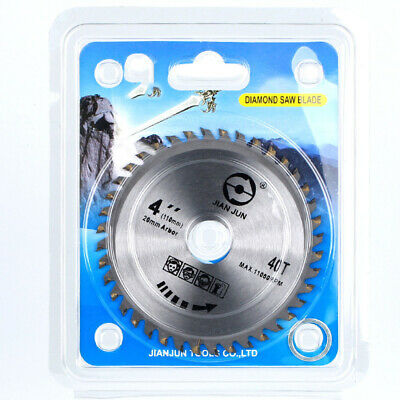 """Blade Wood 4"""" Disc Cutting Saw Removing Carving for Angle Grinder 1pc 40 Tooth"""