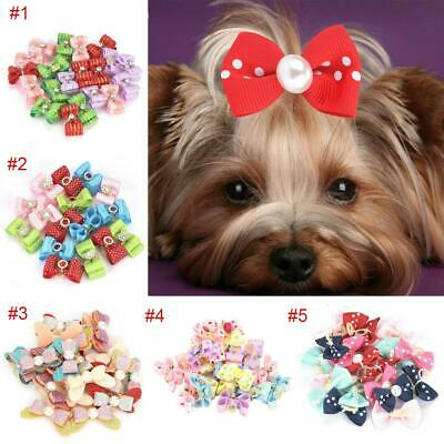 16Pcs/20Pcs Hair Bows For Small Dog Cat Pet Puppy Bowknots Grooming Accessory