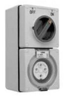 Clipsal 56-SERIES SWITCHED SOCKET 500V 4-Pin Round WHITE- 10A, 20A Or 32A