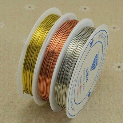 1pcs Reel Of Copper Wire Craft Jewellery Making 0.3mm-1mm Choose Colour Size