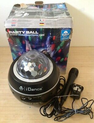 iDANCE BLUETOOTH PARTY BALL WITH DISCO LIGHTS AND MICROPHONE KARAOKE MACHINE
