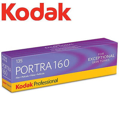 Kodak Professional PORTRA 160 ISO 35mm 36exp 135 Color Film (5 Rolls/pack) US