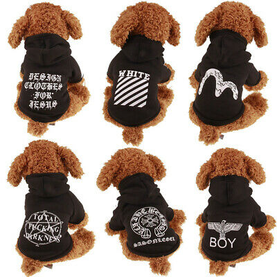 Dog Hoodie Clothes Pet Winter Clothes Puppy Cat Sweater Coat Clothing Apparel