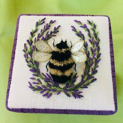 Lavender Bumblebee- an embroidery and stumpwork kit for Beginners