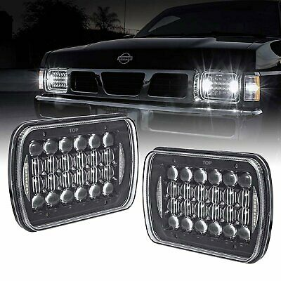 Pair Hilux Led New Upgraded Head Light 5X7Inch Headlight Replacement Hi/Lo Beam