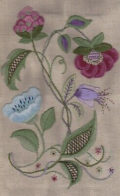 Jacobean Study 2 -a second traditional crewel embroidery kit
