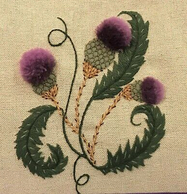 Thistles -a traditional crewel embroidery kit