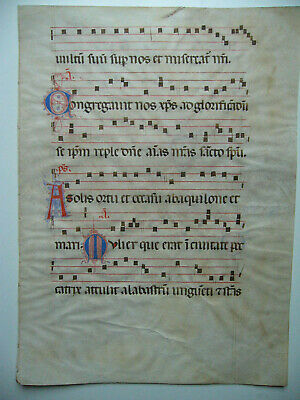 Antiphonar, Graduale. ca.1500, Notenhandschrift auf Pergament.Imp.-Folio