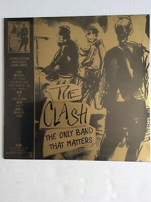 The Clash The Only Band That Matters Gold Swirl Vinyl LP CRLVNY014 Japan Edition