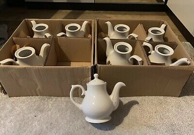 Churchill Sandringham White Classic Teapot Coffee Fine China 15oz 426ml RRP £15