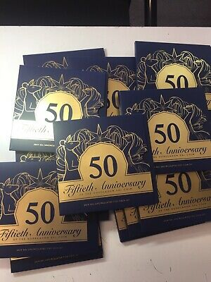 2019 New 50 Cent Five Coin Collection Inc Gold Plated - Diff Portraits 50 Th Ann