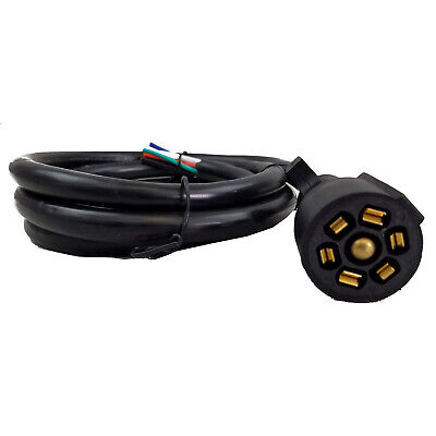 8ft 7 way inline trailer cord plug wiring harness extension gm wiring harness motorhome wire harness #13
