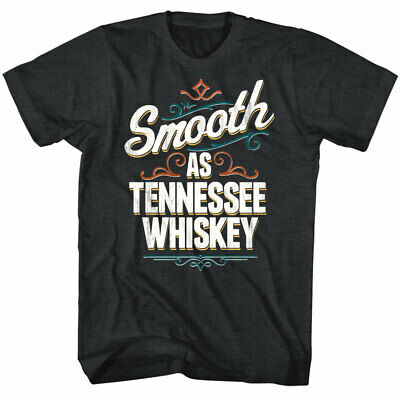 Drunk Society Smooth as Tennessee Whiskey Men's T Shirt Drinking Booze Alcohol
