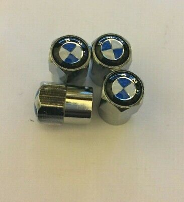 High Quality Alloy Metal Chrome Dust Caps With BMW Logo, UK Seller