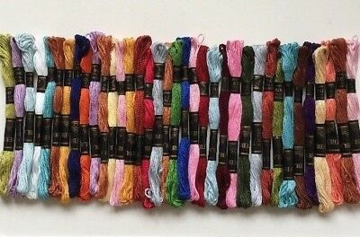 Selection of 36 'Trebla' embroidery cottons. Colours as shown.