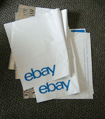 """Five (5) eBay-Branded Polymailer With Blue Print 14.5"""" x 18.5"""" (No padding)"""