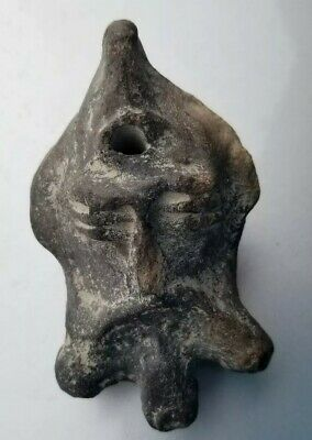 Outstanding Ancient Roman Lantrene - Jesus Face clay Oil lamp Circa 100 AD