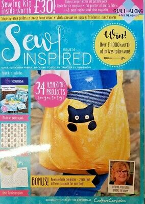 Sew Inspired Magazine 2019 # 16 = Sewing Kit Worth £30 = 34 Projects